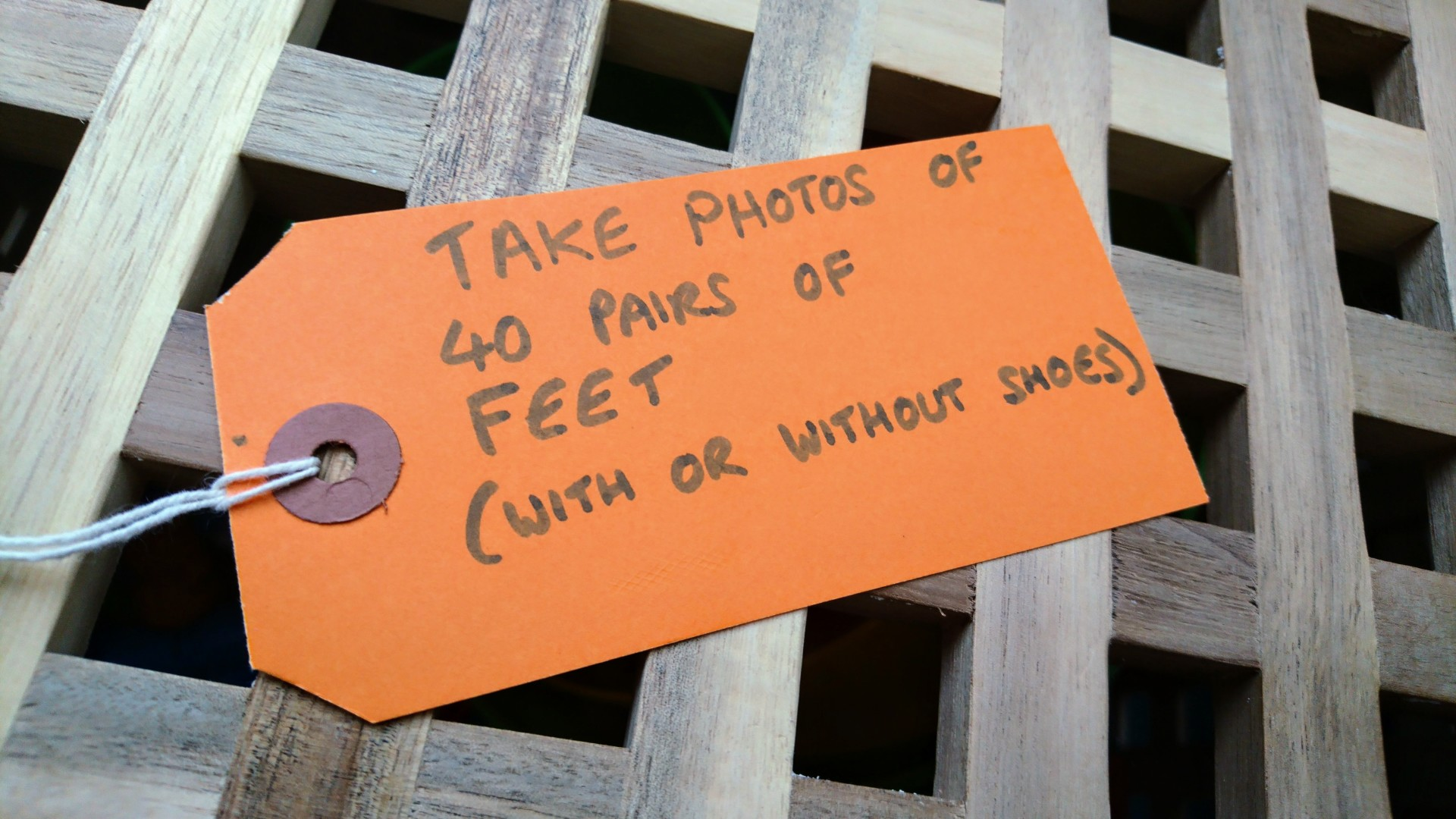 Take Photos of 40 pairs of feet (with or without shoes)